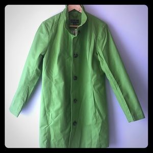 Eddie Bauer Lime Green Trench Coat